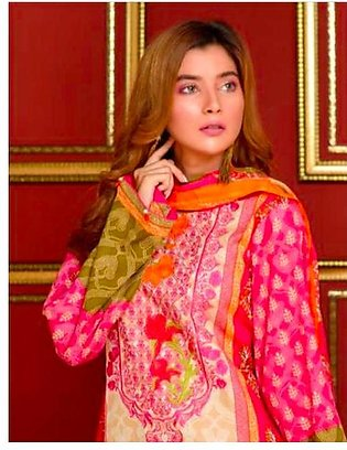 Khaddi Embroidered Lawn Collection Self Embroidered Front & Fancy Box Packing...