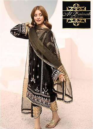 NOOR BY SADIA VELVET EMBROIDERY COLLECTION Suit