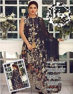 Party Wear Lawn Dresses - Embroidered Net Dupatta - Replica - Unstitched