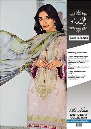 Baroque Lawn With Chiffon Dupatta Printed Lawn Front - Replica - Unstitched