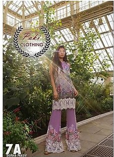 Sobia Nazir Summer Collection Fabric Lawn - Replica - Unstitched
