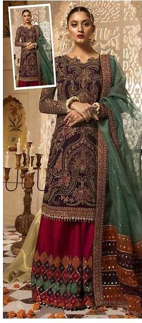 Maria B New Luxury Chiffon Suit 2020 Collection