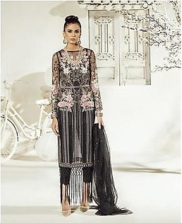 Party Wear Net Dresses - Embroidered Net Dupatta - Replica - Unstitched