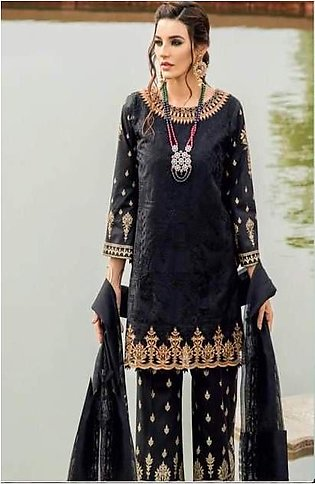 Iznik Lawn Collection Front Lawn Heavy Embroiderd Dhaga Work - Replica - Unst...