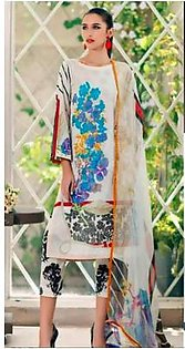 Charizma Lawn Collection With Chiffon Dupatta Printed Front - Replica - Unstitched