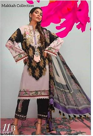Sana Safinaz Lawn Collection Heavy Embroidery Body Bunches Printed Lawn Front...