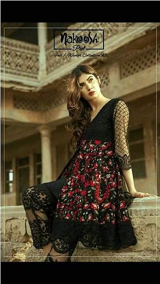 Nakoosh Chiffon Dresses - Embroidered Chiffon Dupatta - Replica - Unstitched