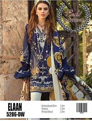 Elan Collection Now Available Full Suit On Lawn With Printed Dupatta - Replic...