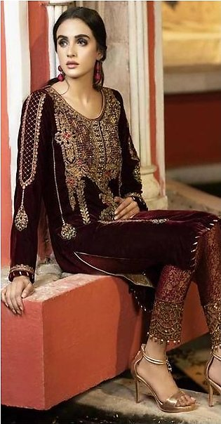 Nakoosh Velvet Collection Sequence Work & Handwork Embroiderey Wedding Suit