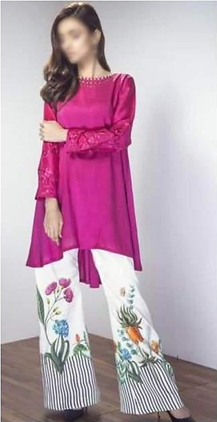 Maria B Collection Embroidered Lawn Dress Embroidered Front - Replica - Unsti...