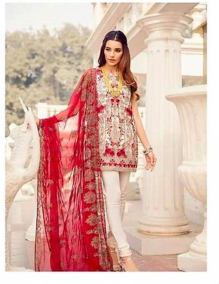 Iznik Collection Fabric Chiffon Dupatta Chiffon Trouser Malai - Replica - Uns...