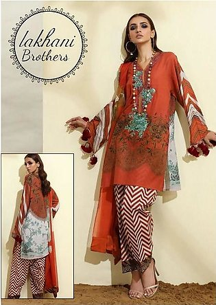 Sana Safinaz cambric lawn & lawn dupatta new collection 2020   Front cambric ...