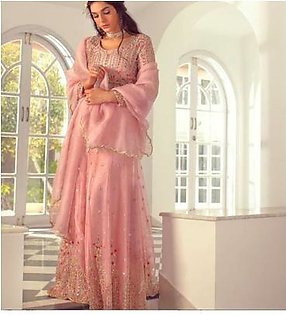 Agha Noor Official Party Dresses On Organza & Malai Collection - Replica - Unstitched