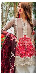 Zainab Chottani Summer Collection Printed Lawn With Heavy Embroidered Alternet Front - Replica - Unstitched