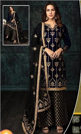 UMYAS VELVET EMBROIDERY COLLECTION FRONT HAND WORK