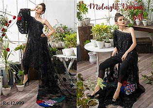 Asifa & Nabeel Net Dresses - Embroidered Net Dupatta - Replica - Unstitched
