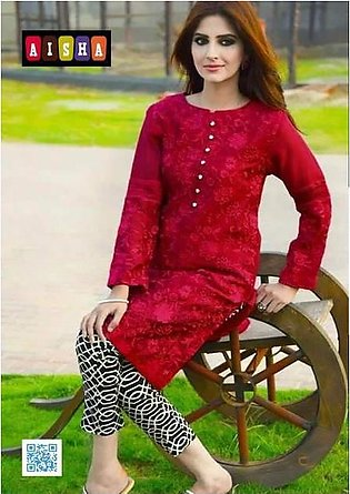 Maria B Collection Cotton Dress Embroidered Front Jacquard Dupatta - Replica ...