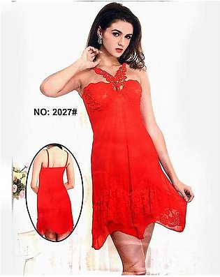 Butterfly Red Sexy Short Nighty - 2027