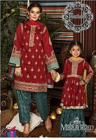 Maria B Virasat Mother-Daughter Collection  Replica - Unstitched