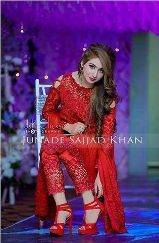 Maria B Chiffon Embroidery Suit- Replica - Unstitched
