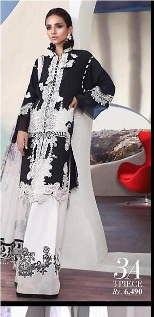 Sana Safinaz Lawn Collection With Lawn Dupatta Printed Lawn Front - Replica -...