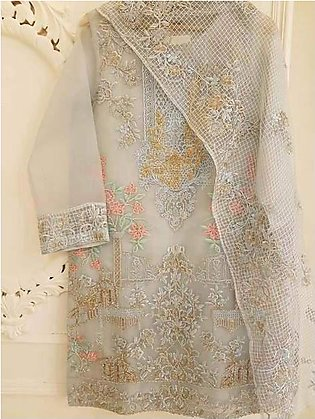 Agha Noor Collection Now Available Net Embroidered Front - Replica - Unstitched