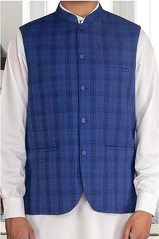 Waist coat For Men SKU: GA3358-Blue