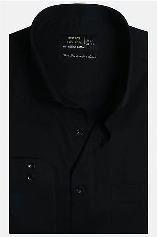 Formal Men Shirt in Black AD20091