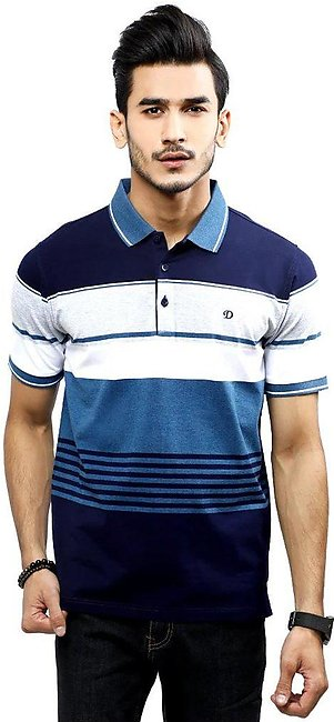 Diner's Men's Polo T-Shirt SKU: NA699-N-Blue
