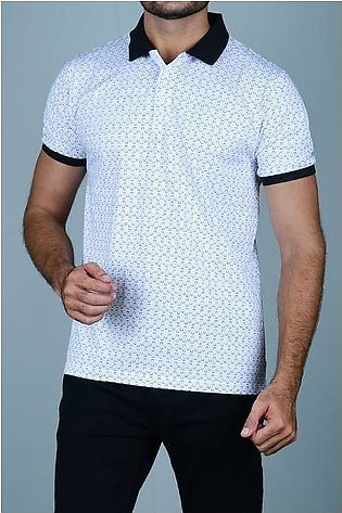 Diner's Men's Polo T-Shirt SKU: NA648-WHITE