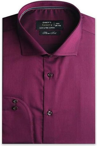 Formal Men Shirt in Maroon AD20091