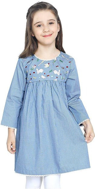 Girls Kurti in Blue SKU: KGKK-0193-BLUE
