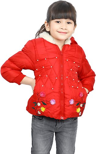 Jackets For Girls In Red SKU: KGF-0119-RED