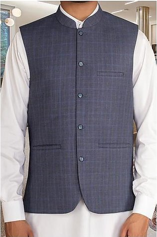 Waist coat For Men SKU: GA3355-Blue