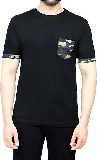Diner's Men's Round Neck T-Shirt SKU: NA707-Black