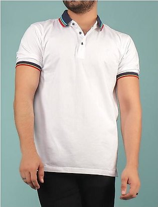Diner's Men's Polo T-Shirt SKU: NA615-WHITE