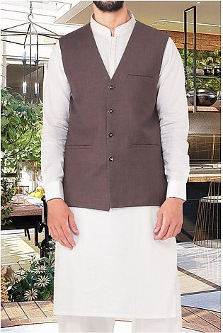Waist coat For Men for Men SKU: GA3331-Brown
