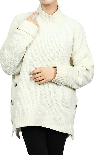 Ladies Sweater In Offwhite SKU: SL906-OFFWHITE