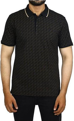 Diner's Men's Polo T-Shirt SKU: NA688-Black