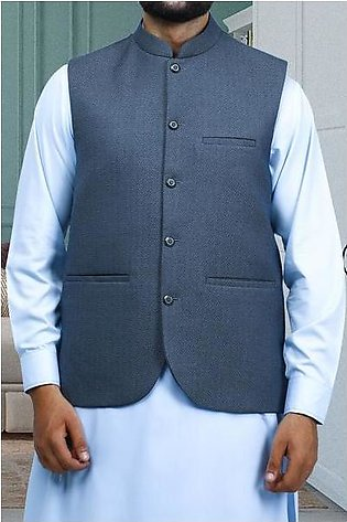 Waist coat For Men SKU: GA3361-BLUE