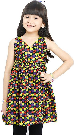 Girls Frock in Multi SKU: KGKK-0189-MULTI