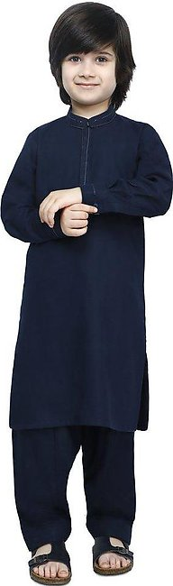 Boys Kurta Shalwar In N-Blue SKU: KBH-0081-N-BLUE