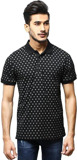 Diner's Men's Polo T-Shirt SKU: NA687-Black