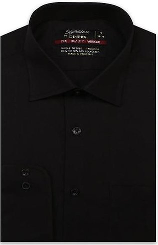 Formal Plain Shirt in Black