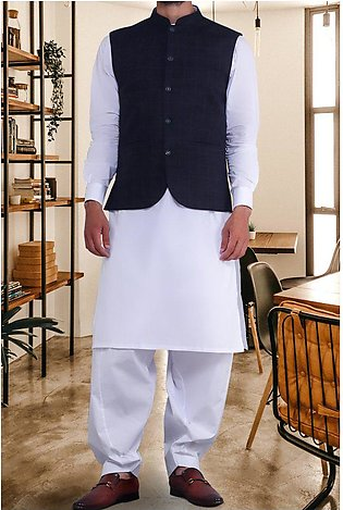 Waist coat For Men for Men SKU: GA3295-N-BLUE