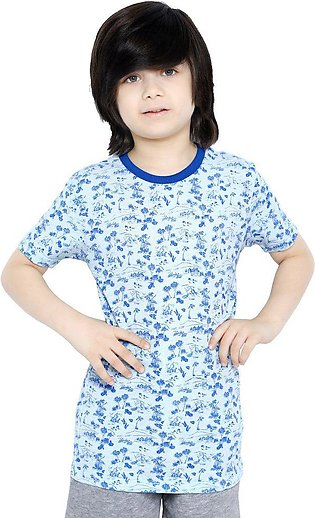 Boys Round Neck T-Shirt SKU: KBA-0275-WHITE