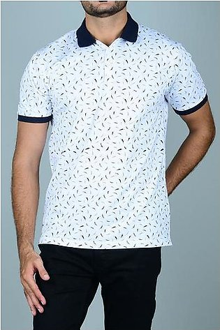 Diner's Men's Polo T-Shirt SKU: NA646-WHITE