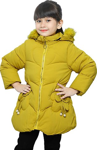Jackets For Girls In Yellow SKU: KGF-0111-YELLOW