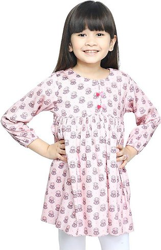 Girls Kurti in Pink SKU: KGKK-0195-PINK