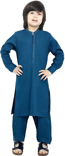 Boys Kurta Shalwar In Teal SKU: KBH-0082-TEAL